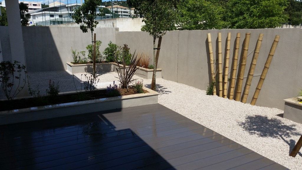 Am nagements paysagers frontignan h rault for Agencement terrasse jardin